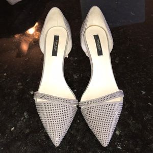 Gorgeous grey suede studded pumps